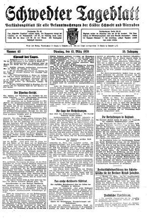 Schwedter Tageblatt vom 13.03.1928