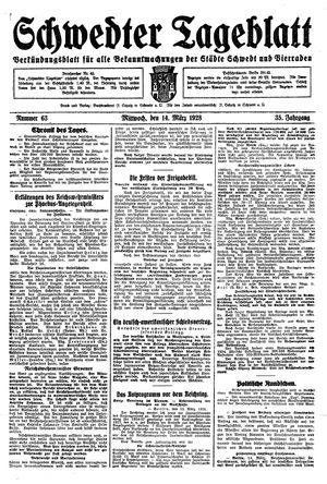 Schwedter Tageblatt vom 14.03.1928