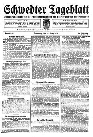 Schwedter Tageblatt vom 15.03.1928
