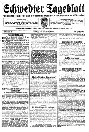 Schwedter Tageblatt vom 16.03.1928