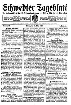 Schwedter Tageblatt vom 19.03.1928