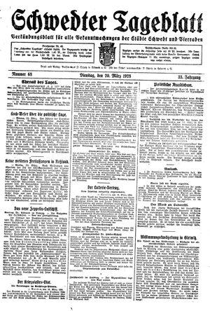Schwedter Tageblatt vom 20.03.1928