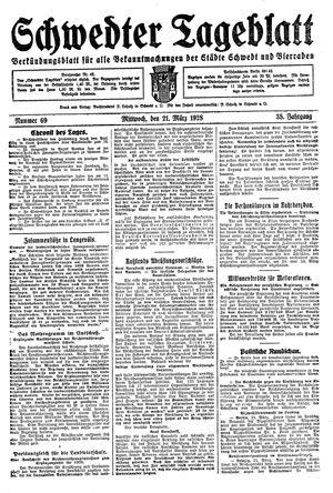 Schwedter Tageblatt vom 21.03.1928