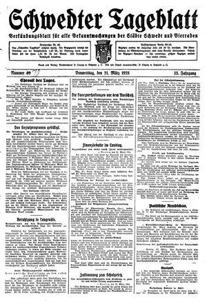 Schwedter Tageblatt vom 22.03.1928