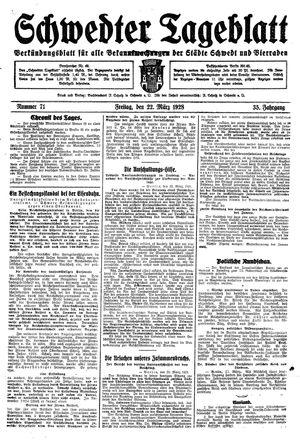 Schwedter Tageblatt vom 23.03.1928
