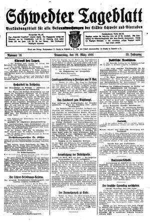 Schwedter Tageblatt vom 29.03.1928