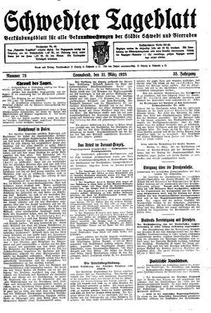 Schwedter Tageblatt vom 31.03.1928