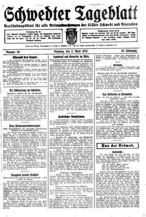 Schwedter Tageblatt vom 03.04.1928