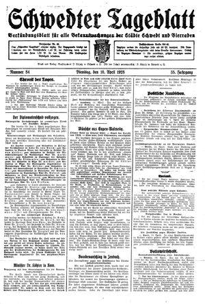 Schwedter Tageblatt on Apr 10, 1928