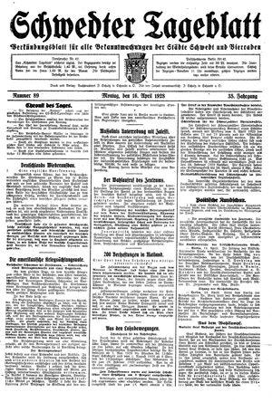Schwedter Tageblatt vom 16.04.1928
