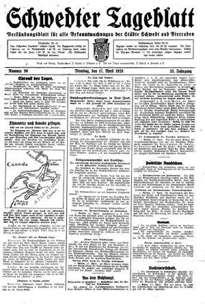 Schwedter Tageblatt vom 17.04.1928