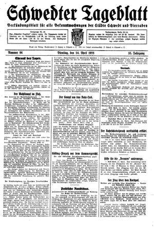 Schwedter Tageblatt vom 24.04.1928
