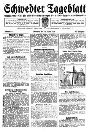 Schwedter Tageblatt vom 25.04.1928