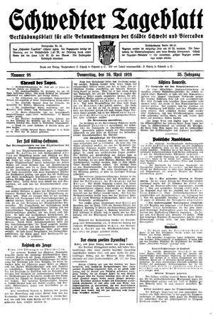 Schwedter Tageblatt vom 26.04.1928