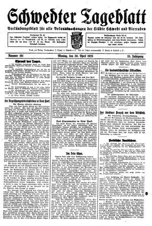 Schwedter Tageblatt vom 30.04.1928