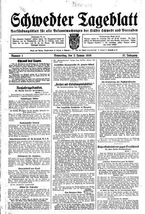 Schwedter Tageblatt vom 02.01.1930