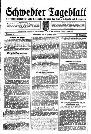 Schwedter Tageblatt vom 04.01.1930