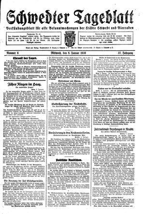Schwedter Tageblatt vom 08.01.1930