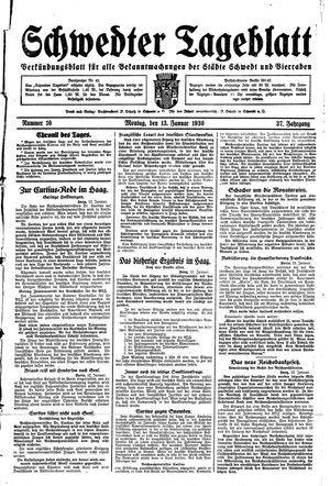Schwedter Tageblatt vom 13.01.1930