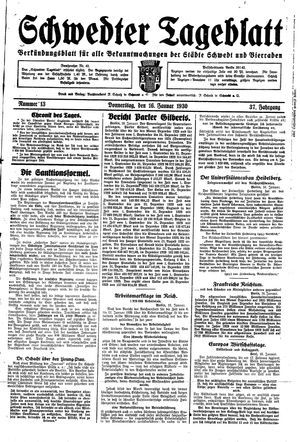 Schwedter Tageblatt vom 16.01.1930