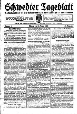 Schwedter Tageblatt vom 20.01.1930