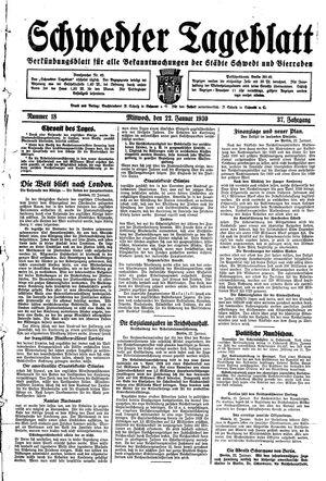 Schwedter Tageblatt vom 22.01.1930