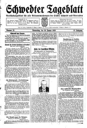 Schwedter Tageblatt vom 30.01.1930