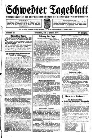 Schwedter Tageblatt vom 01.02.1930