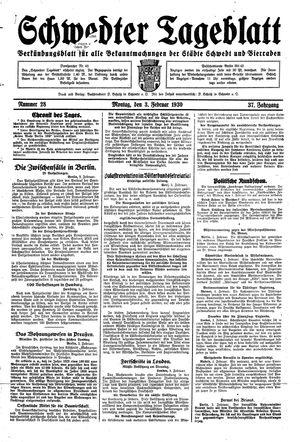 Schwedter Tageblatt vom 03.02.1930