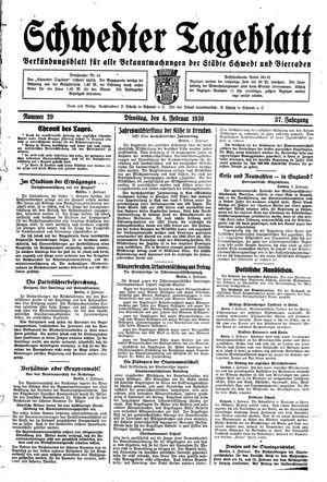 Schwedter Tageblatt vom 04.02.1930