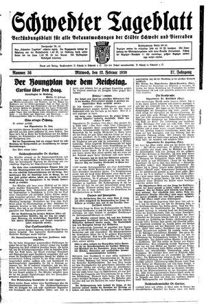 Schwedter Tageblatt vom 12.02.1930