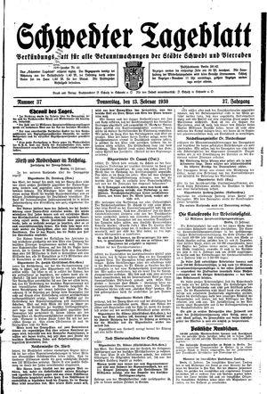 Schwedter Tageblatt vom 13.02.1930