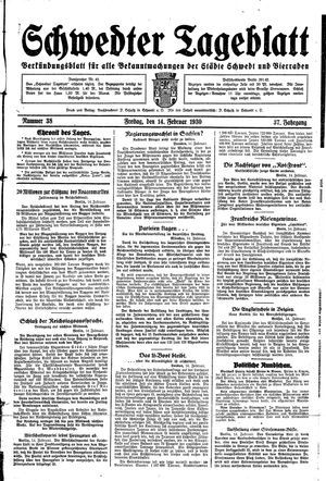 Schwedter Tageblatt vom 14.02.1930