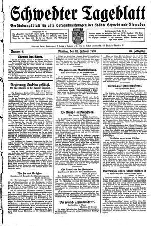 Schwedter Tageblatt vom 18.02.1930