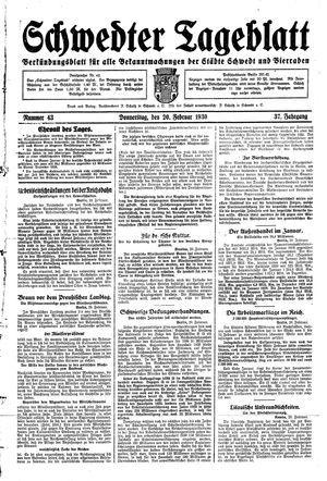 Schwedter Tageblatt vom 20.02.1930