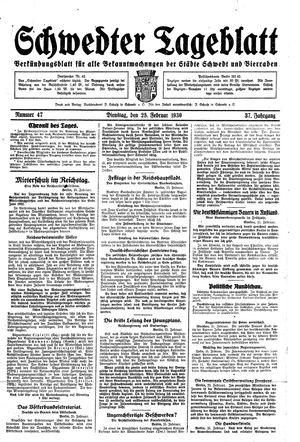 Schwedter Tageblatt vom 25.02.1930