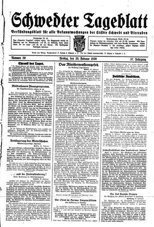 Schwedter Tageblatt vom 28.02.1930