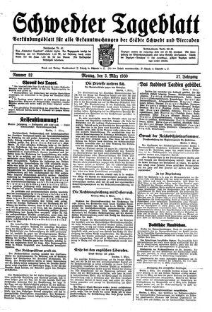 Schwedter Tageblatt vom 03.03.1930