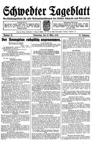 Schwedter Tageblatt vom 13.03.1930