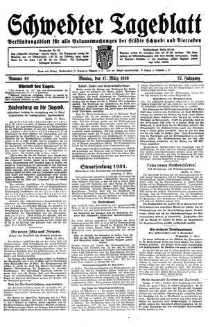 Schwedter Tageblatt vom 17.03.1930