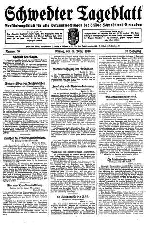 Schwedter Tageblatt vom 24.03.1930