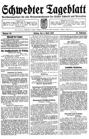 Schwedter Tageblatt vom 04.04.1930