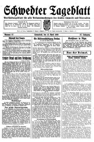 Schwedter Tageblatt vom 12.04.1930