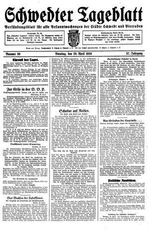 Schwedter Tageblatt vom 29.04.1930
