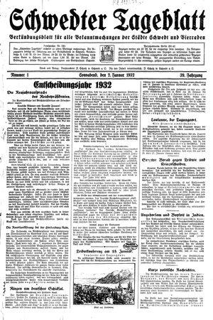 Schwedter Tageblatt vom 02.01.1932