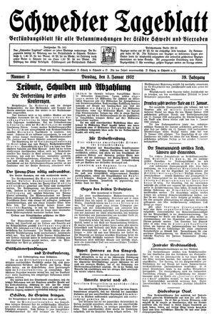 Schwedter Tageblatt vom 05.01.1932