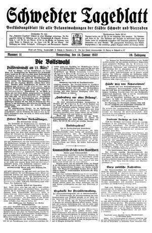Schwedter Tageblatt vom 14.01.1932