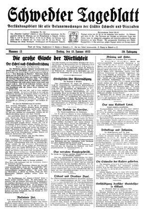 Schwedter Tageblatt on Jan 15, 1932