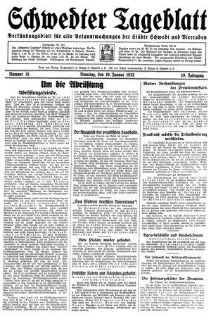 Schwedter Tageblatt vom 19.01.1932