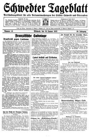 Schwedter Tageblatt vom 20.01.1932